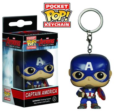 תמונה של POCKET POP AVENGERS AOU CAPTAIN AMERICA VIN FIG KEYCHAIN