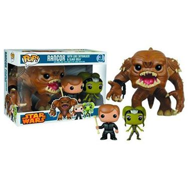תמונה של Star Wars Rancor, Luke, and Oola Pop! Vinyl Figure Bobble Head 3-Pack