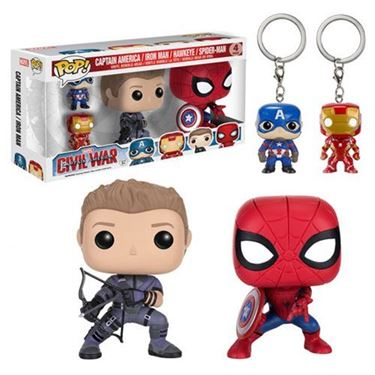 תמונה של Captain America: Civil War Pop! Vinyl Figure and Key Chain 4-Pack
