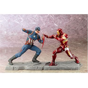 תמונה של CAPTAIN AMERICA CW CAPTAIN AMERICA+IRON MAN  ARTFX  STATUE SET