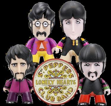 תמונה של The Beatles Sgt. Pepper's Titans Vinyl Figure Set