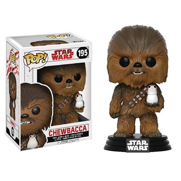 תמונה של STAR WARS E8 CHEWBACCA WITH PORG POP