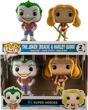 תמונה של JOKER AND HARLEY QUINN BEACH 2PK POP