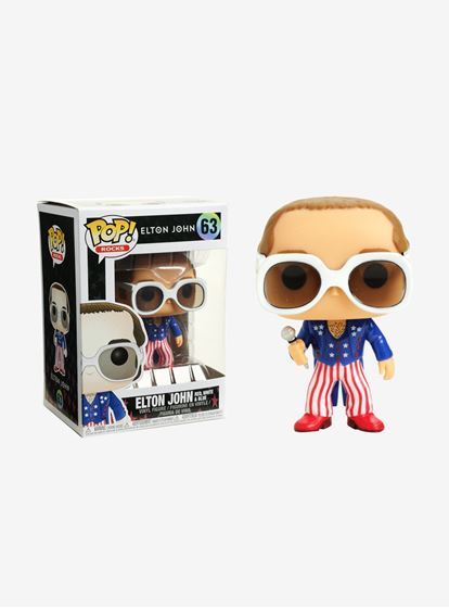 תמונה של ROCKS ELTON JOHN RED WHITE BLUE VINYL FIGURE POP