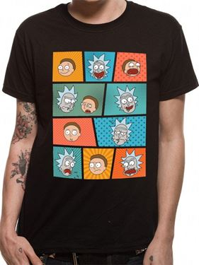 תמונה של Rick and Morty -pop art faces L