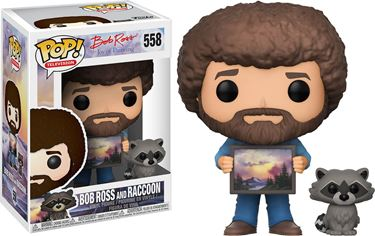 תמונה של BOB ROSS AND RACCOON POP