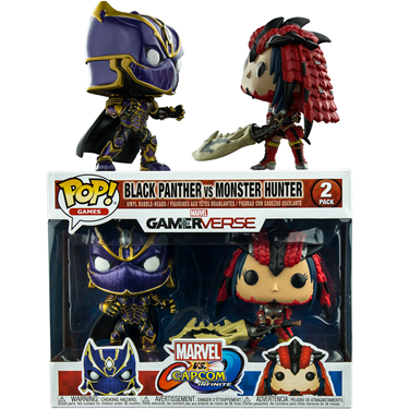 תמונה של MARVEL VS CAPCOM BLACK PANTHER VS MONSTER HUNTER 2PK POP