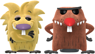 תמונה של ANGRY BEAVERS NORBERT AND DAGGETT POP