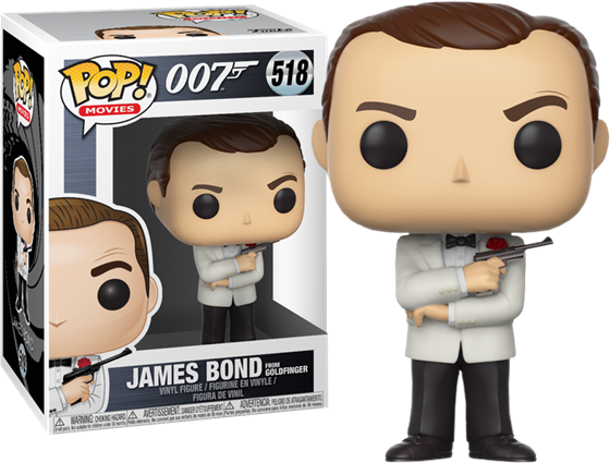 תמונה של JAMES BOND SEAN CONNERY WHITE TUXEDO GOLDFINGER POP