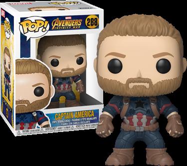 תמונה של הנוקמים מלחמת האינסוף קפטן אמריקה - AVENGERS INFINITY WAR CAPTAIN AMERICA POP