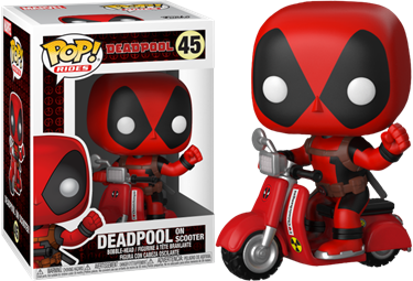 תמונה של DEADPOOL WITH SCOOTER RIDE POP