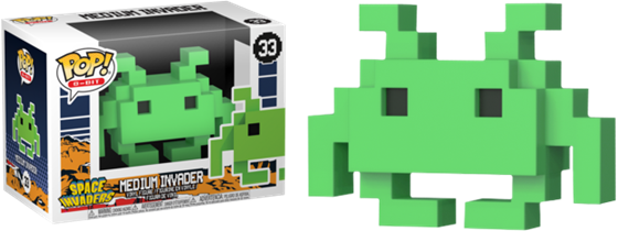 תמונה של SPACE INVADERS MEDIUM INVADER 8-BIT POP