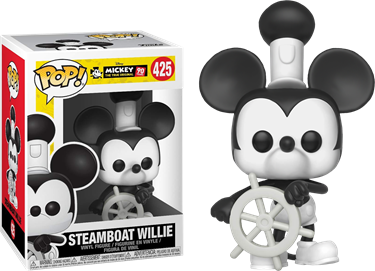 תמונה של DISNEY MICKEY 90TH ANNIVERSARY STEAMBOAT WILLIE POP