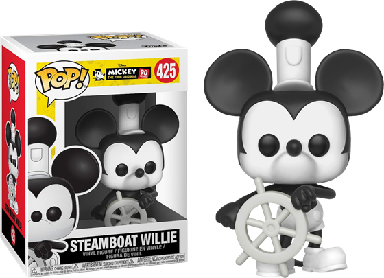קומיקס וירקות Disney Mickey 90th Anniversary Steamboat Willie Pop