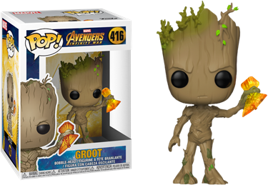 תמונה של גרוט-INFINITY WAR GROOT WITH STORMBREAKER POP