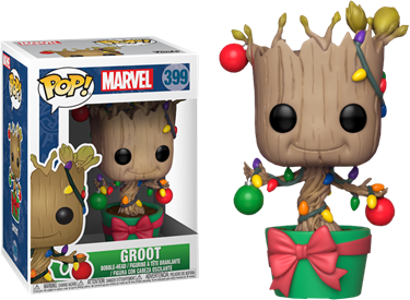 תמונה של גרוט-GUARDIANS OF THE GALAXY DANCING GROOT WITH CHRISTMAS LIGHTS POP