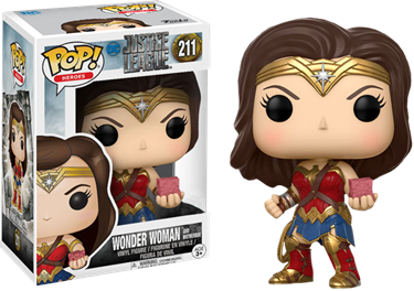 תמונה של וונדר וומן - JUSTICE LEAGUE WONDER WOMAN WITH MOTHER BOX POP