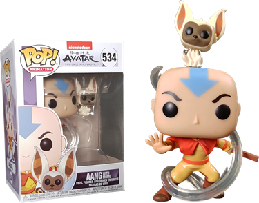 תמונה של אווטאר - AVATAR THE LAST AIRBENDER AANG WITH MOMO POP