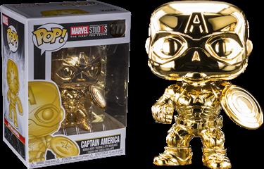 תמונה של קפטן אמריקה - MARVEL STUDIOS CAPTAIN AMERICA GOLD CHROME POP