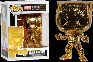 תמונה של הפנתר השחור - MARVEL STUDIOS BLACK PANTHER GOLD CHROME POP