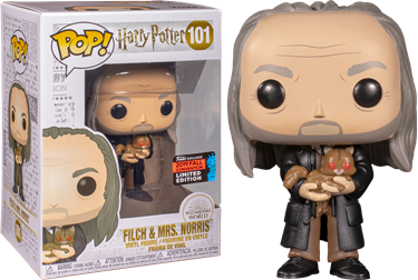 תמונה של הארי פוטר - HARRY POTTER FILCH AND MRS. NORRIS NYCC EXCLUSIVE POP