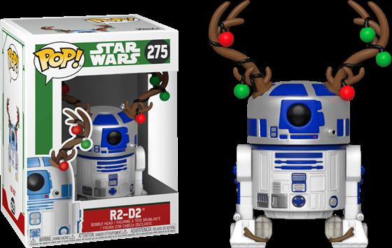 תמונה של מלחמת הכוכבים - STAR WARS R2-D2 WITH ANTLERS CHRISTMAS HOLIDAY POP