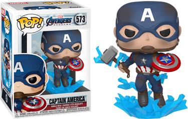 תמונה של הנוקמים סוף המשחק - AVENGERS 4: ENDGAME CAPTAIN AMERICA WITH MJOLNIR POP