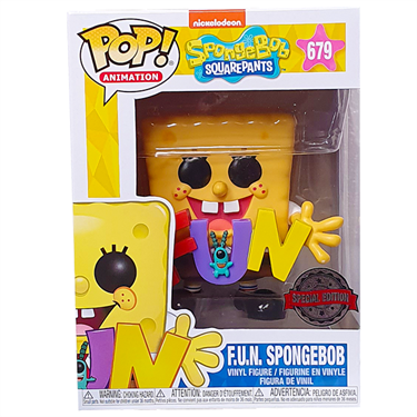 תמונה של בובספוג - SPONGEBOB SQUAREPANTS WITH PLANKTON HOLDING FUN EXCLUSIVE POP
