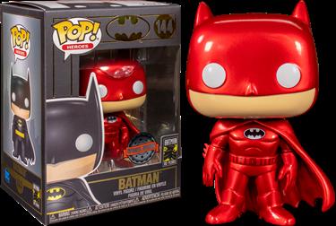 תמונה של באטמן - BATMAN RED METALLIC 80TH ANNIVERSARY POP