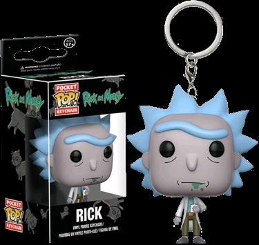 תמונה של ריק ומורטי מחזיק מפתחות - RICK AND MORTY RICK POCKET KEYCHAIN