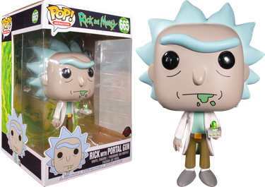 תמונה של ריק ומורטי - RICK AND MORTY RICK WITH PORTAL GUN 10 INCH  EXCLUSIVE POP