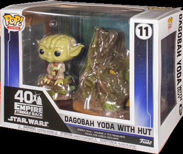 תמונה של מלחמת הכוכבים - STAR WARS DAGOBAH YODA WITH HUT POP