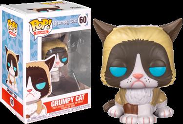 תמונה של חתול זועף - GRUMPY CAT FLOCKED EXC POP