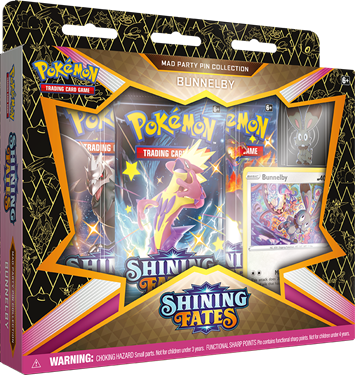 תמונה של פוקימון - POKEMON SHINING FATES MAD PARTY PIN COLLECTION BUNNELBY