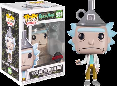 תמונה של ריק ומורטי ריק עם כובע פופ - RICK AND MORTY RICK FUNNEL HAT POP
