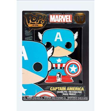 תמונה של סיכה קפטן אמריקה - CAPTAIN AMERICA POP ENAMEL PIN